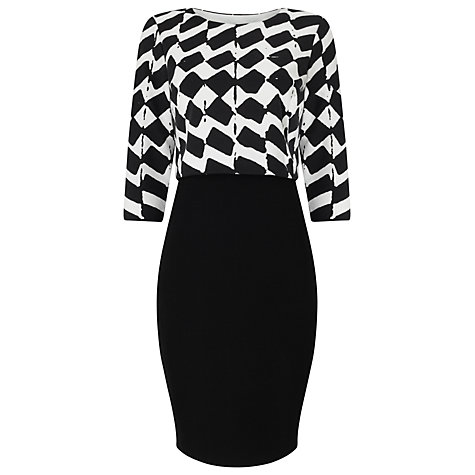 Buy phase eight zig zag tiered dress black white online at johnlewis