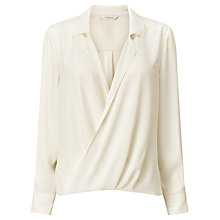 Buy Precis Petite Savannah Blouson Blouse, Ivory Online at johnlewis.com