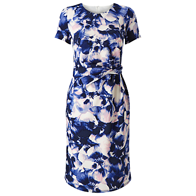 Precis Petite Ade Soft Petal Dress, Multi Blue