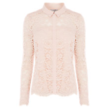 Buy Coast Adelia Lace Blouse, Blush Online at johnlewis.com