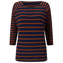 Buy Phase Eight Carris Stripe Top, Navy/Tobacco Online at johnlewis.com