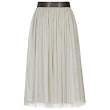 Buy Reiss Crystal Tulle Midi Skirt, Stone Online at johnlewis.com