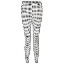 Buy Miss Selfridge Petite Gingham Tube Trousers, White Online at johnlewis.com
