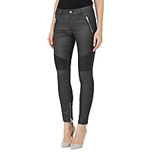 Buy Reiss Biker Jeans, Black Online at johnlewis.com