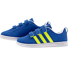 Buy Adidas Children's Advantage VS Sports Shoes, Blue/Yellow Online at johnlewis.com