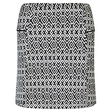 Buy Miss Selfridge Petite Geo Print Mini Skirt, Black Online at johnlewis.com