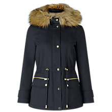 Buy Miss Selfridge Petite Parka Coat, Navy Online at johnlewis.com