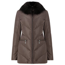 Buy Phase Eight Calandra Chevron Puffer Jacket, Mink Online at johnlewis.com