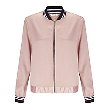 Buy Miss Selfridge Petite Bomber Jacket, Pink Online at johnlewis.com