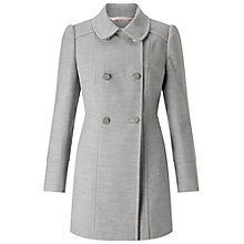 Buy Miss Selfridge Petite Double Breasted Pea Coat Online at johnlewis.com