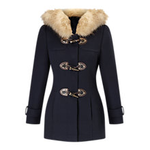 Buy Miss Selfridge Petite Duffle Coat, Navy Online at johnlewis.com