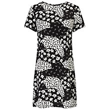 Buy Miss Selfridge Petite Monochrome Tee Dress, Black Online at johnlewis.com