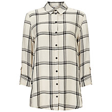 Buy Miss Selfridge Split Check Shirt, Multi Online at johnlewis.com