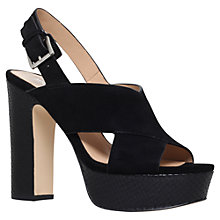 Buy MICHAEL Michael Kors Mariana Sling Back High Heeled Platform Sandals, Black Suede Online at johnlewis.com