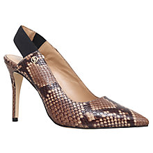 Buy MICHAEL Michael Kors Leilah Sling Back Court Shoes, Taupe Online at johnlewis.com