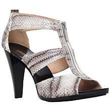 Buy MICHAEL Michael Kors Berkley Zip Front Cone Heeled Sandals, Beige Comb Online at johnlewis.com