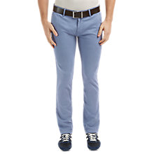 Buy BOSS Orange Slim Chinos, Navy Online at johnlewis.com