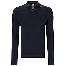 Buy BOSS Orange Zprite Top, Dark Blue Online at johnlewis.com