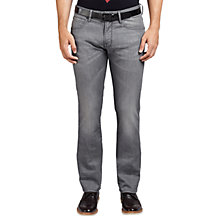 Buy BOSS Orange Barcelona Straight Jeans, Dark Grey Online at johnlewis.com