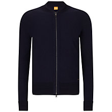 Buy BOSS Orange Karerb Zipped Wool Jacket, Navy Online at johnlewis.com