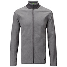 Buy BOSS Green C-Fossa Herringbone Reversible Jacket Sweatshirt, Medium Grey Online at johnlewis.com