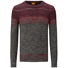 Buy BOSS Orange Agruade Jumper, Red Online at johnlewis.com