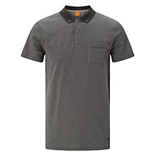 Buy BOSS Orange Picktown Polo Shirt, Charcoal Online at johnlewis.com