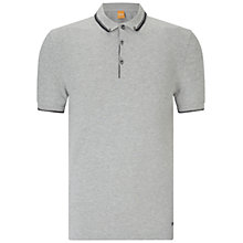Buy BOSS Orange Pejo Fashion Fit Polo Shirt, Light Pastel Grey Online at johnlewis.com