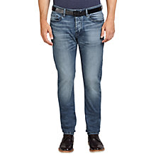 Buy BOSS Orange Orange90 Tapered Jeans, Bright Blue Online at johnlewis.com