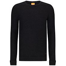 Buy BOSS Orange Kroy Crew Neck Jumper, Dark Grey Online at johnlewis.com