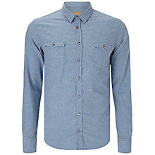 Buy BOSS Orange Edo Slim Fit Shirt, Navy Online at johnlewis.com