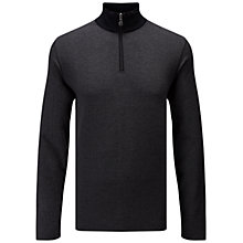Buy BOSS Green C-Piceno Herringbone Funnel Neck Sweatshirt, Black Online at johnlewis.com