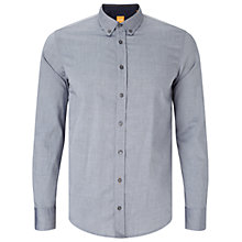 Buy BOSS Orange Edipo Slim Fit Shirt, Dark Blue Online at johnlewis.com