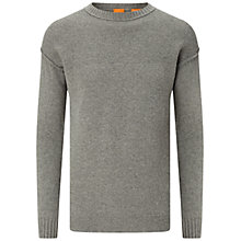 Buy BOSS Orange Asquar Jumper, Light Grey Online at johnlewis.com