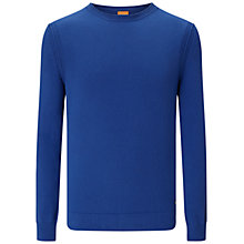 Buy BOSS Orange Albinon Jumper, Aqua Online at johnlewis.com