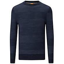 Buy BOSS Orange Kastar Jumper, Dark Blue Online at johnlewis.com