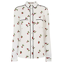 Buy Oasis Cherry Piped Shirt, Multi Online at johnlewis.com