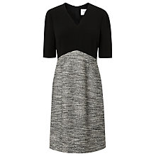Buy L.K. Bennett Karlie Fabric Mix Dress, Black Online at johnlewis.com