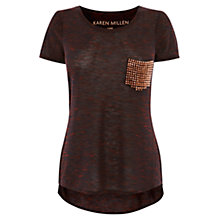 Buy Karen Millen New Stud T-Shirt Online at johnlewis.com