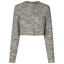Buy L.K. Bennett Karlie Tweed Jacket, Black Online at johnlewis.com