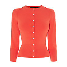 Buy Karen Millen Floral Lace Cardigan, Red Online at johnlewis.com