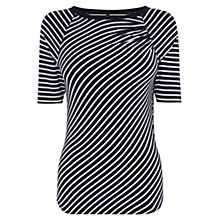 Buy Karen Millen Graphic Stripe Top, Blue/Multi Online at johnlewis.com