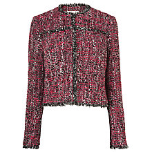 Buy L.K. Bennett Edelle Frayed Seam Jacket, Pink Online at johnlewis.com