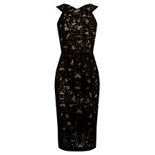 Buy Oasis Lace Pencil Dress, Black Online at johnlewis.com
