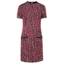 Buy L.K. Bennett Edelle Frayed Seam Dress, Pink Online at johnlewis.com