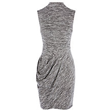 Buy Karen Millen Draped Jersey Dress, Grey/Multi Online at johnlewis.com