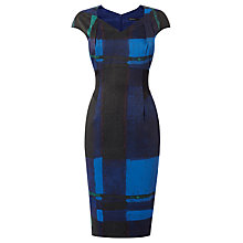Buy Karen Millen Painterly Dress, Blue/Multi Online at johnlewis.com