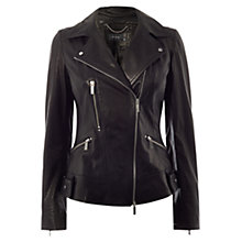 Buy Karen Millen Investment Le Biker Jacket, Black Online at johnlewis.com