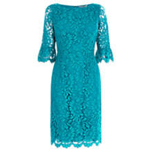 Buy Coast Katrina Lace Shift Dress, Teal Online at johnlewis.com