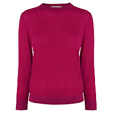 Buy L.K Bennett Merino Core Jumper, Pink Online at johnlewis.com